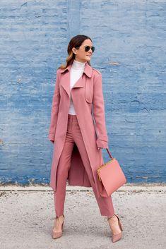 Blush Pink Theory Cropped Pant