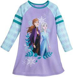Disney Ariel Long Sleeve Nightshirt for Girls Multi