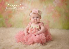 Beautiful baby in pink