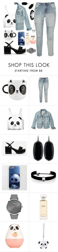 """Panda is every where 😍🐼🐼🐼"" by samahdasan ❤ liked on Polyvore featuring Sass & Belle, Zizzi, Hollister Co., CHARLES & KEITH, Kendra Scott, Kenneth Jay Lane, BOSS Black, Ralph Lauren, Etude House and TONYMOLY"