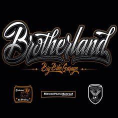 Custom typography for Brotherland Big Bike Garage