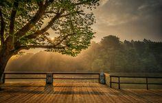 Sunrise, Les Sept Fontaines - Belgium by Albert Vuvu Konde, via Flickr
