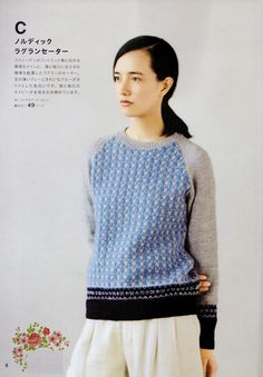 "Photo from album ""Fair Isle and Nordic, on Yandex. Knitting Magazine, Crochet Magazine, Knitting Books, Vintage Knitting, Knitting Sweaters, Japanese Crochet, Crochet Clothes, Knitwear, Sweaters For Women"