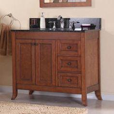 """Magick Woods 37-1/4"""" Ashwell Collection Vanity Base. Model Number: 48396.  SKU: 6059341 www.menards.com"""