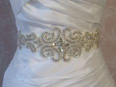 Crystal Rhinestone Sash Bridal Sash Wedding Belt by TheRedMagnolia, $100.00