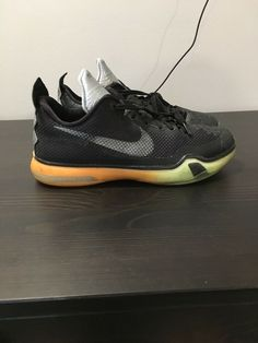 huge selection of 10a3d 6bc4f Nike Kobe X 10 All Star Game ASG Shoes Black Multi-Color Size 7 743872