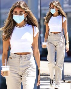 White Jeans Outfit, Pants Outfit, White Shorts, Stylish Outfits, Cute Outfits, Jean Outfits, Summer Outfits, Street Style, Style Inspiration