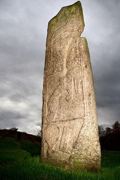 """archaicwonder: """" The Maiden Stone is a Pictish standing stone near Inverurie in Aberdeenshire in Scotland, most likely dating to the century AD. The name is derived from local legend, incorporating the most obvious mark of wear and tear on the. Cairns, Local Legends, Old Stone, To Infinity And Beyond, Stonehenge, Scotland Travel, British Isles, Monuments, Archaeology"""