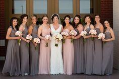 Inspiration décoration mariage en rose et gris