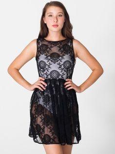 China Lace Sleeveless Dress #AmericanApparel #PinatripwithAA