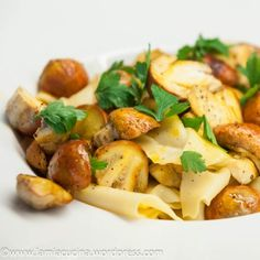 Ovoli with Pappardelle