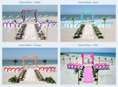 If you are considering having a beach wedding in Florida.. Or you are looking for ideas on the west coast. I strongly recommend this website. This website contains several ideas and designs for the guests and yourself. So you may have the beach wedding of your dreams. :)
