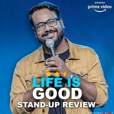 Ashish Shakya did his first-ever Stand-up Special for Amazon Prime Video, titled Life Is Good. Is it good? Find out! Best Stand Up, Good Find, Amazon Prime Video, Stand Up Comedy, Comic Artist, Laugh Out Loud, Life Is Good, Laughter