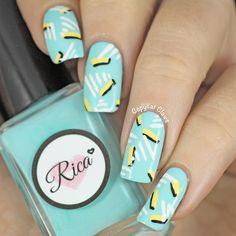 Copycat Claws: 80's Nail Art Triangles, Nail Art Inspiration, 80s Nails, Nail Stamping, Mellow Yellow, Nail Tech, Halloween Nails, Cute Designs, Art Google