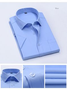 4048f924ca6 Please Log In. U SHARK Summer Short Sleeve Shirt Mens Dress Shirts Slim Fit Easy  Care Cotton Work Shirt Men Casual ...