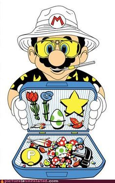 Fear & Loathing in Super Mario World. Not one of my favorite movies but this is pretty awesome