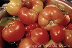 Homemade Pizza Sauce in the Slow Cooker    by Michael Nolan      Heirloom Tomatoes    By now you should be seeing a good number of fresh tomatoes coming in from your home garden and if you're like me you are always on the lookout for new ways to use them. What better way to preserve tomatoes than to make convenience foods that your family loves?.....