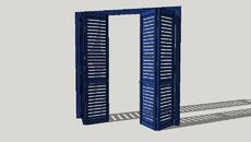 3D Model of Shatters, shutters, blind, шаттерсы, ставни, жалюзи