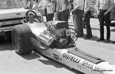 """NHRA Winternationals Top Fuel John Mulligan and Tim Beebe on the left. """"Jungle Jim"""" Liberman and Clare Sanders in the center for. Old Shool, Top Fuel, Funny Cars, Drag Cars, Car Humor, Drag Racing, Pilots, Car Ins, Family History"""