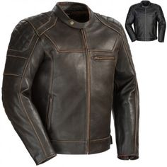 Cortech Dino Leather Mens Street Cruising Touring Riding Motorcycle Jackets