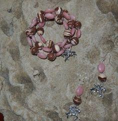 Pegasus design handmade bracelet and earring set by KANDYLEES