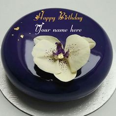 Write Name On Yummy Birthday Cake Happy Wishes With Round Shaped For Love Print