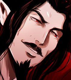 Castlevania Dracula, Alucard Castlevania, Castlevania Netflix, Male Face Drawing, Werewolf Hunter, The Darkling, Hot Vampires, Vampire Art, Character Art