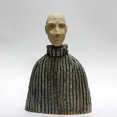 Muchacho en un golf azul: cerámica escultura / escultura única estatuilla de cerámica/de cerámica / cerámica arte