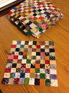 INSPIRED BY ANTIQUE QUILTS, picture only, no link attached. It's nice using light fabrics in between the darks instead of muslin or white/beige solids. Much more interesting.