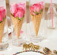 Cone flower centerpiece display