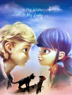 Miraculous Ladybug and Cat Noir ♥ Found at www.miraculousladyblog.net