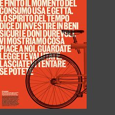 Orange. Bled text. Unusual cropping. Strong structure. Just a few of my favorite things.