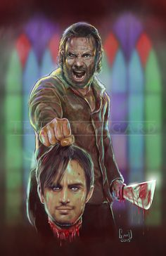 """Rick Grimes """"Four Walls and a Roof"""" sold by The Art of Gard. Shop more products from The Art of Gard on Storenvy, the home of independent small businesses all over the world. Walking Dead Fan Art, Walking Dead Wallpaper, Walking Dead Tv Show, Walking Dead Series, Walking Dead Season, Fear The Walking Dead, Cast Art, Fourth Wall, Stuff And Thangs"""