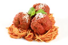 Grandma's Italian meatball recipe is the ultimate comfort food dish to share! Tender and juicy meatballs are simmered in a simple yet rich tomato sauce and placed over spaghetti noodles or the pasta of your liking. Meatball Recipes, Beef Recipes, Italian Recipes, Cooking Recipes, Recipies, Pasta Recipes, Italian Dishes, Pasta Meals, Seafood Pasta