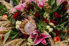 Centerpieces with exotic flowers