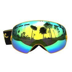91a76988f1c 2017 COPOZZ Sunglasses Ski Goggles Men Women Spherical Double UV Anti-fog  Skiing SnowboardGoggles Cocker