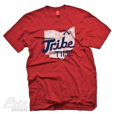 074f6a2c9 Cleveland Indians Inspired Tribe Time Baseball Custom T-shirt Indians  Baseball, Baseball Jerseys,