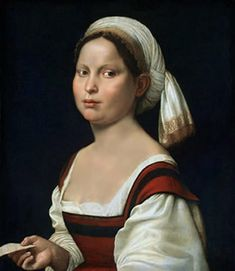 A Young Woman wearing a turban - by Giuliano Bugiardini ca. 1525. NG Washington
