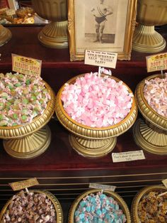 yummy mounds of candy at big top candy shop