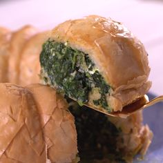 Recipe of the Day: Bundt Pan Spanakopita Love spanakopita but hate filling and folding all those individual triangles? A Bundt pan gives you a break from all that work — and it turns a crispy appetizer into a showstopper that could pass as a main course.