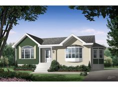 Pre-engineered home Multi Family Homes, Home And Family, Bungalow, Ranch Style Homes, Large Homes, Bay Window, Design Process, Custom Homes, Building A House