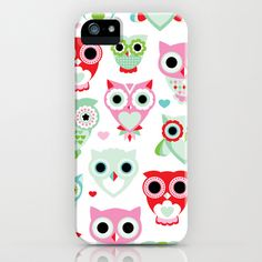 Powder pastel owl pattern print iPhone & iPod Case by Little Smilemakers Studio