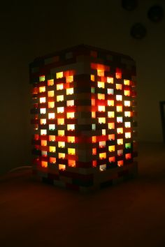 Another cool square lego lamp, this one is shade and base all in one.