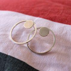 Duble Circle earrings di AuraVJewels su Etsy