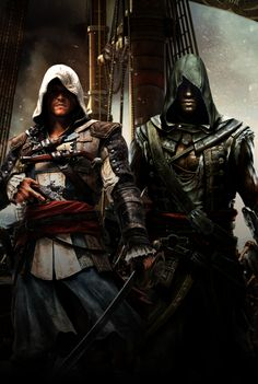 Assassin's Creed: Edward and Adewale by GingerJMEZ