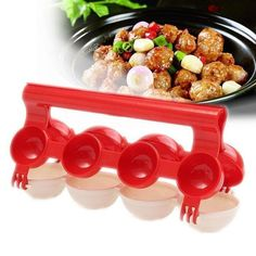 Newbie Meat balls Fish Balls Kitchen Homemade Stuffed Meatballs Maker Home Cooking Tools Spaghetti Bolognese, Tasty Meatballs, Stuffed Meatballs, Must Have Kitchen Gadgets, Friendly Plastic, Plastic Molds, Diy Molding, Cooking Tools, Cooking Gadgets