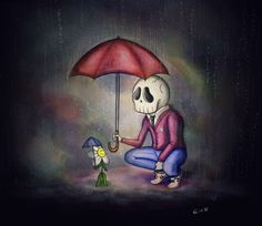 BORED TIBBAR   Raining day, Marco and Marvin the flower, fiends forever