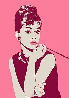 Poster Audrey Hepburn                                                                                                                                                      Mais
