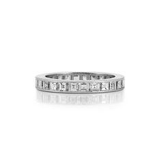 Platinum and Diamond Band Ring, Cartier