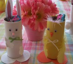 Animaletti di pasqua realizzati con i rotoli di carta, un bellissimo lavoretto da fare con i vostri bambini!